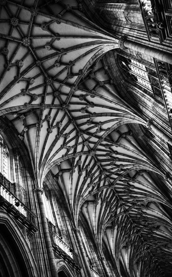 Arch Architectural Feature Architecture Black & White Black And White Blackandwhite Building Cathedral Ceiling Hampshire  History Light Light And Shadow Monochrome Religion Sony Rx100 Structure Winchester Cathedral Window