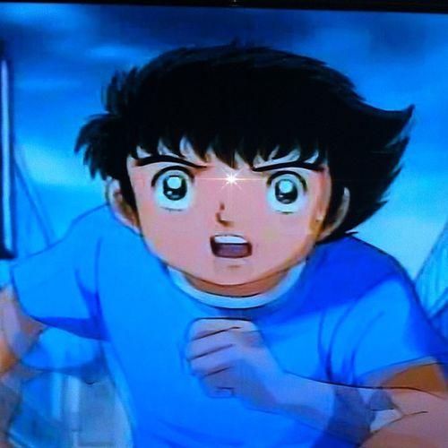 Yumurcak TVde Captain Tsubasa Anime Cartoon soccer football flash da tam alnına denk gelmiş