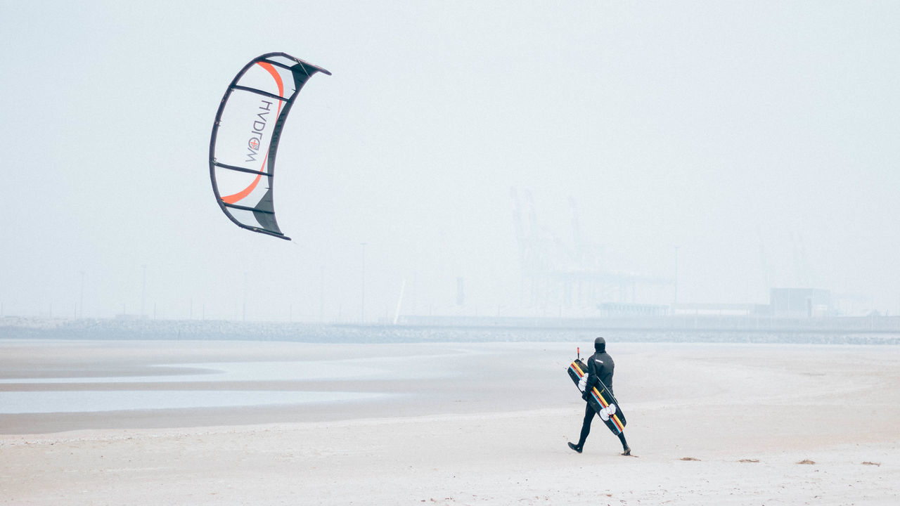 Adventure Beach Extreme Sports Kite Kitesurfing One Person Outdoors People Real People Sport EyeEmNewHere