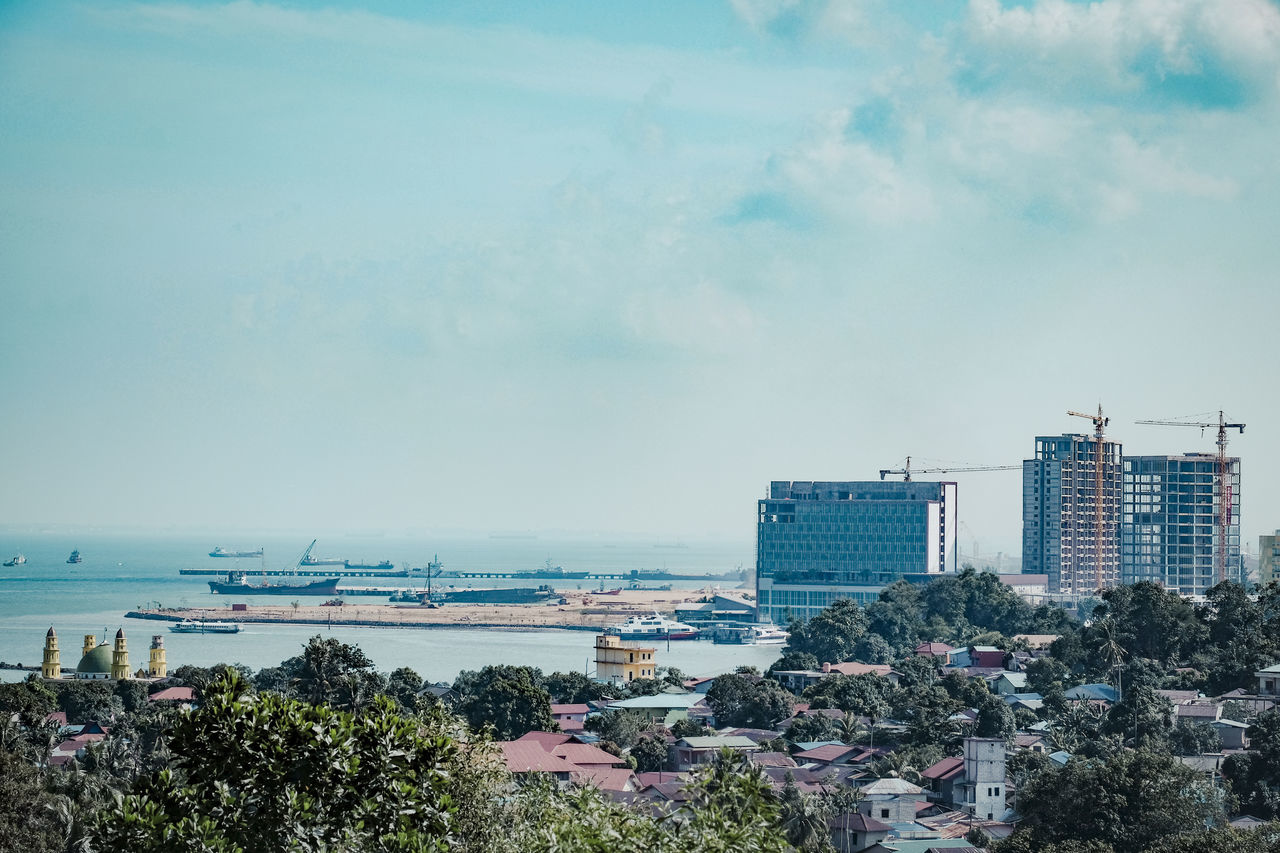 Batam Island Ocean View Apartement Architecture Beauty In Nature Building Exterior Built Structure City Cityscape Day Developing Country Growth Modern Nature No People Outdoors Sea Singapore Straits Sky Skyscraper Tree Water