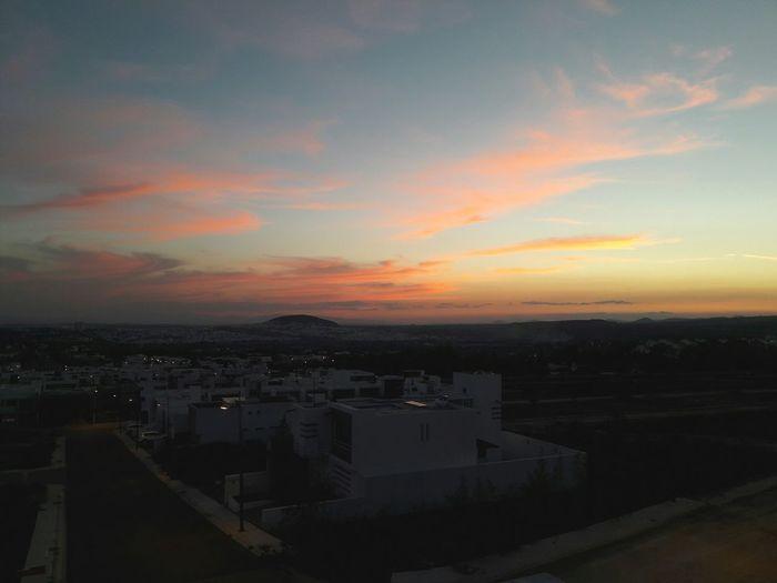 Sunset Christmastime Querétaro Queretaro,Mexico Skyporn Houses Clouds And Sky RedSky