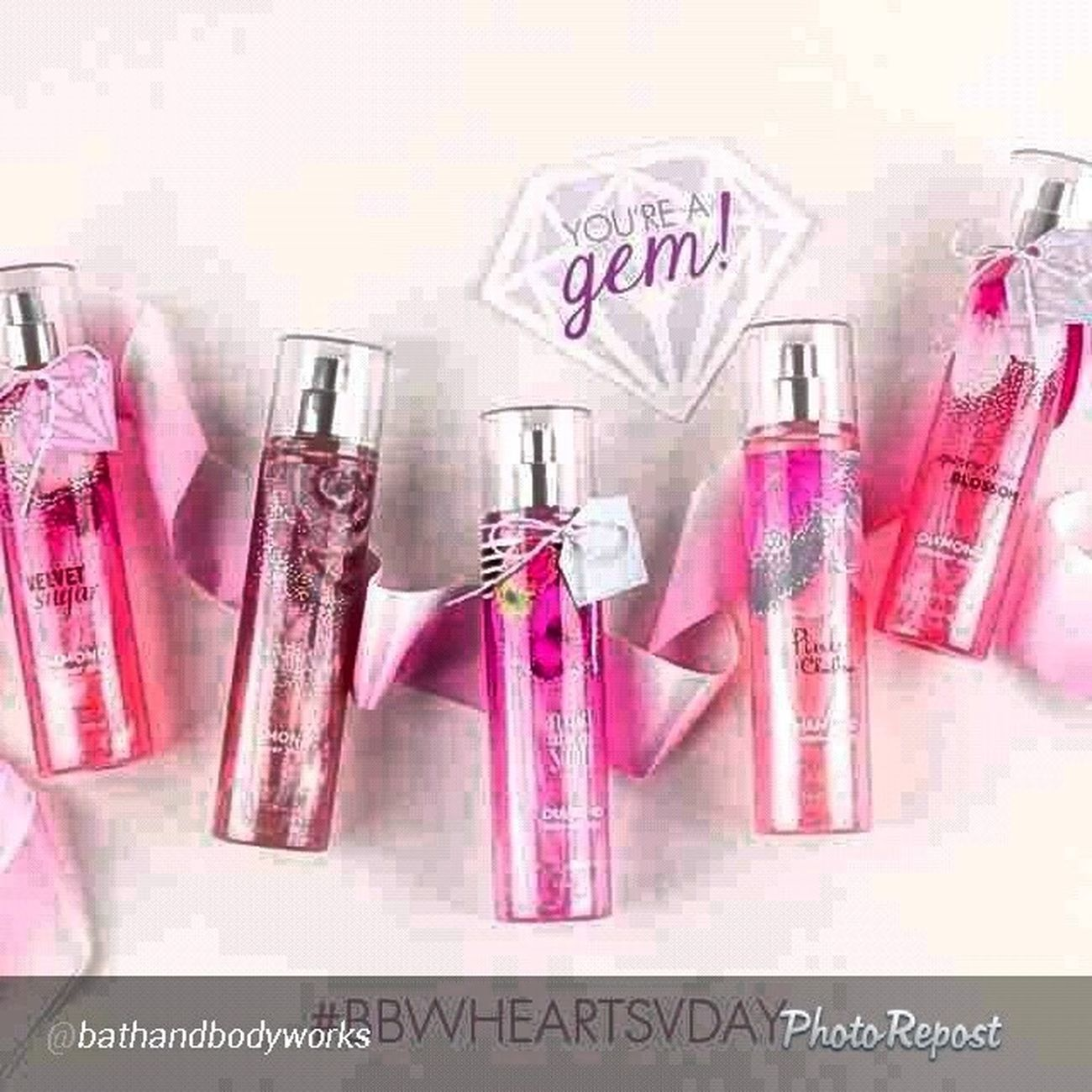 "By @bathandbodyworks ""Our bling for the night. P.s. this + the ? Valentine (found on Pinterest!) = the best BFF gift EVER. Bbwheartsvday """