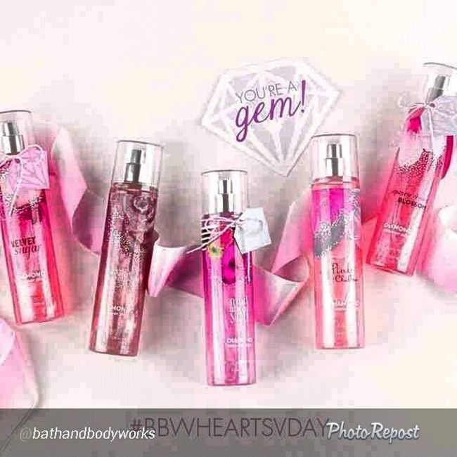 """By @bathandbodyworks """"Our bling for the night. P.s. this + the ? Valentine (found on Pinterest!) = the best BFF gift EVER. Bbwheartsvday """""""