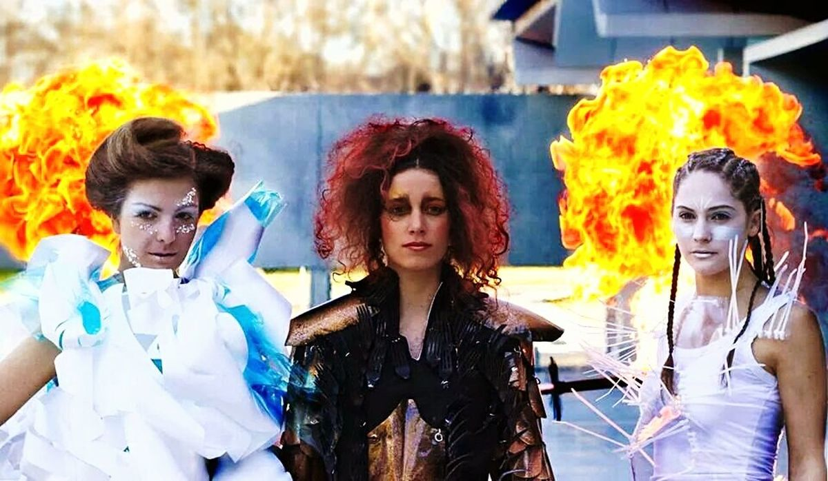 fire and ice. Winter festival Canberra Australia
