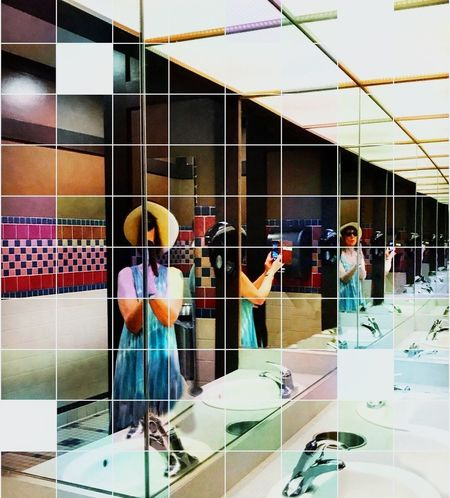 100dayproject Multi Colored Creative Photography Bright Colors Creative Editing Photo Manipulation Reflective Mirror Reflection Selfie Portrait Mirrored Multiple Images Break The Mold