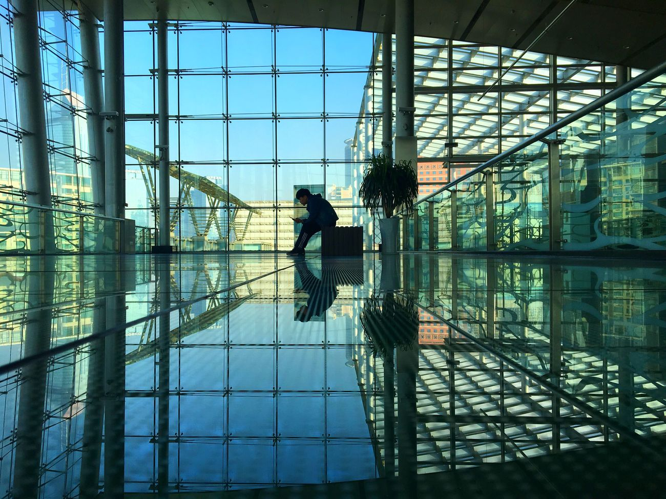 Reflection Full Length Indoors  Travel One Person Men Real People Airport Lifestyles Architecture Connection Adults Only Day Sky Adult People One Man Only Only Men