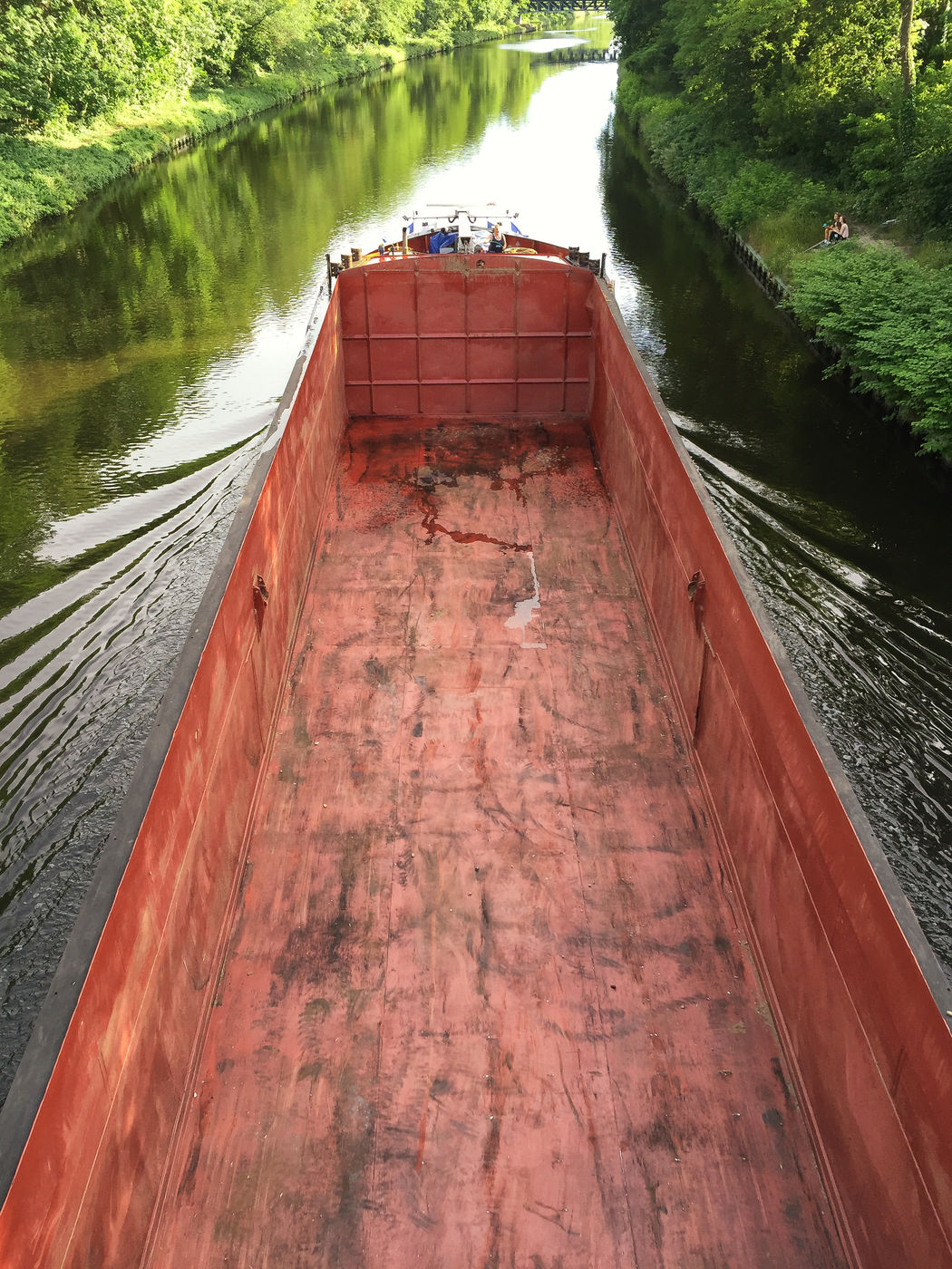 river barge Barge BargeOnTheRiver Berlin Canal Canals And Waterways Day Empty Green In Motion Inland Water Vessel Nature Nature Nautical Vessel Outdoors River Barge River Boat Teltow Teltow Kanal Teltowkanal Trees Water Water Vessel Waterway