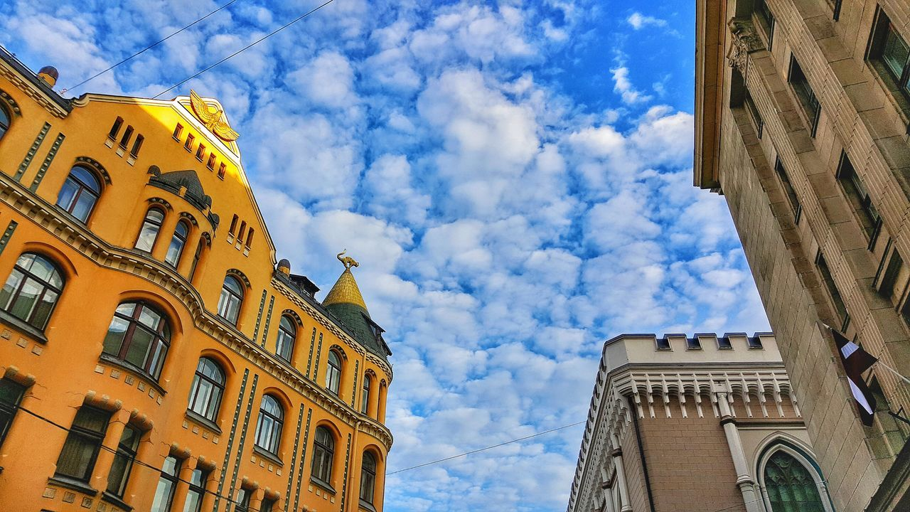 Low Angle View Architecture Built Structure Cloud - Sky Building Exterior Sky Day Travel Destinations History Outdoors Place Of Worship No People Riga Latvia Riga Dome