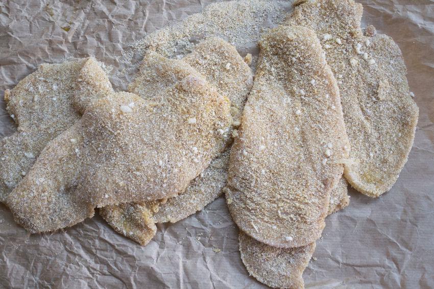 preparing veal cutlet Breadcrumb Breaded Chicken Cutlet Fried Meat Milanese Preparing Veal