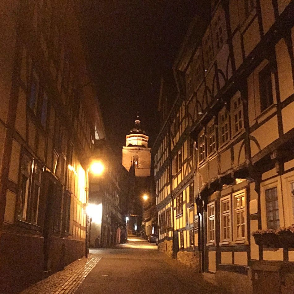 Night Lights Half-timbered Houses Street Photography Old Town Night Photography 43 Golden Moments