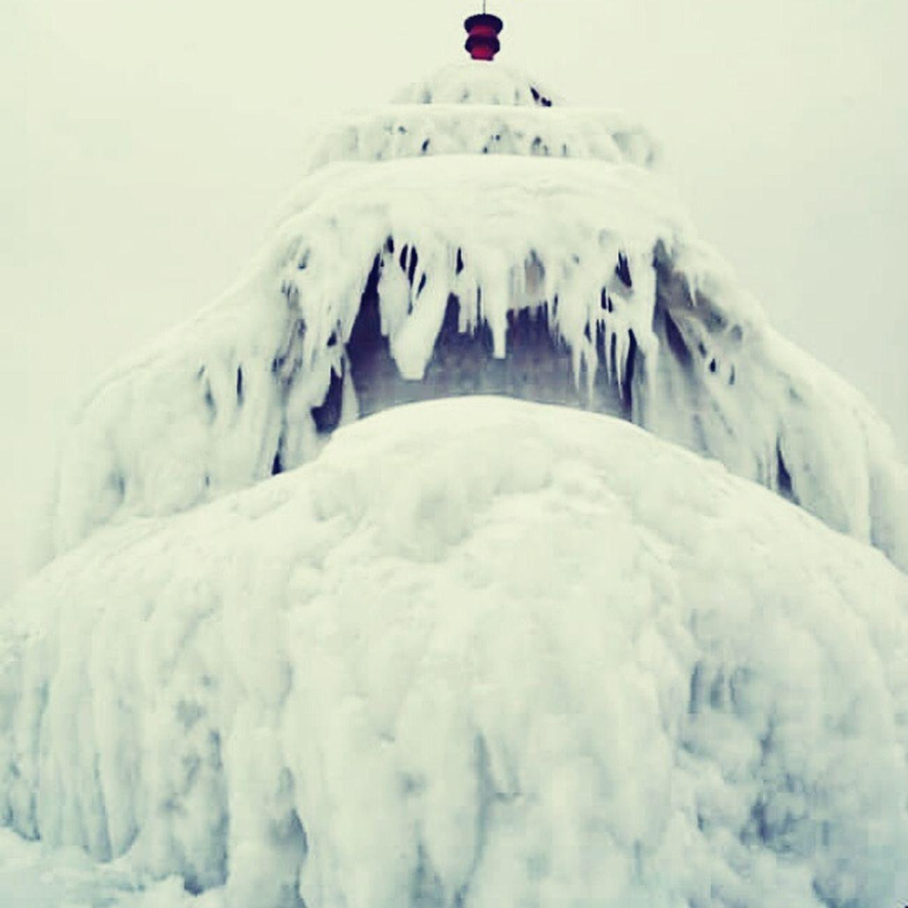 Frozenlighthouse Ice Lakemichiganlighthouses