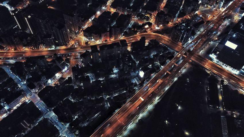 Night High Angle View City Aerial View Cityscape EyeEm Selects Bird View Nightlight Taipei Drone Photography Droneshot Mavic Pro Drone  Dji