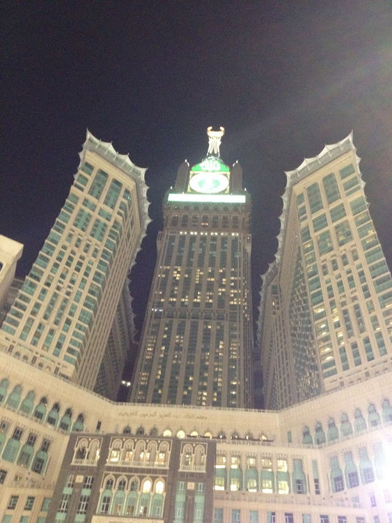 Checking in at Mecca Masjidil Haram Saudi Arabia by Mohammad Kanawati