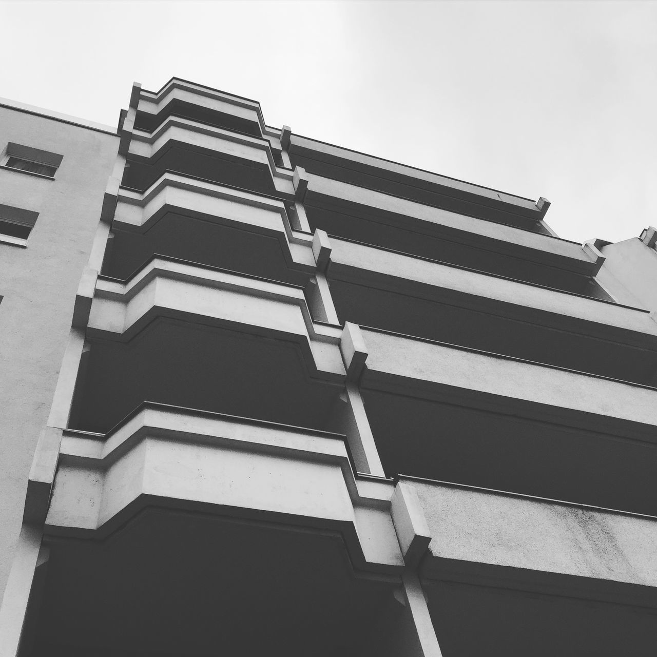 Abstract Abstract Photography Architecture Architecture_collection Balcony Berlin Photography Berliner Ansichten Berlinstagram Black And White Bnw Building Exterior Built Structure City Clear Sky Concrete Day Low Angle View Minimal Modern No People Outdoors Pattern Plattenbau Plattenbauromantik Sky