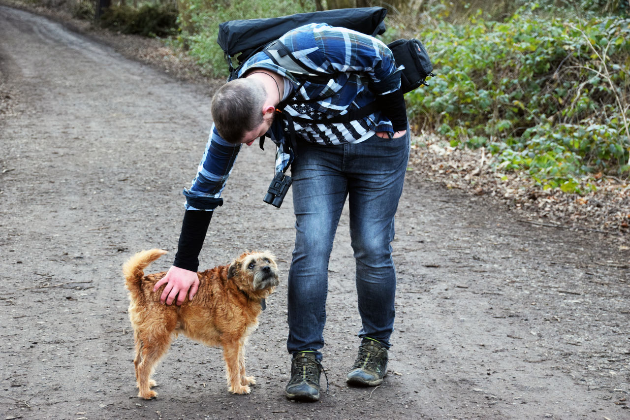 Made a pal on our walk Balding Casual Clothing Friendship Man And Dog New Friends Togetherness Walking Walking The Dog