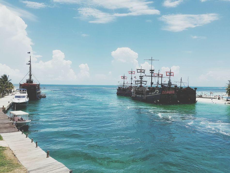 Beautiful stock photos of piraten, sea, sky, blue, nautical vessel