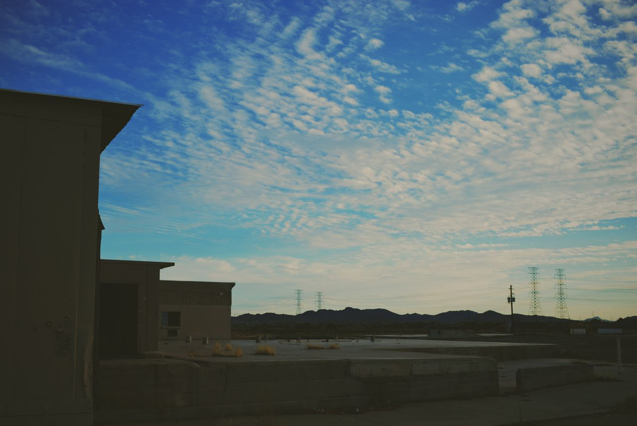 built structure, architecture, building exterior, sky, no people, cloud - sky, outdoors, sunset, day, low angle view, nature