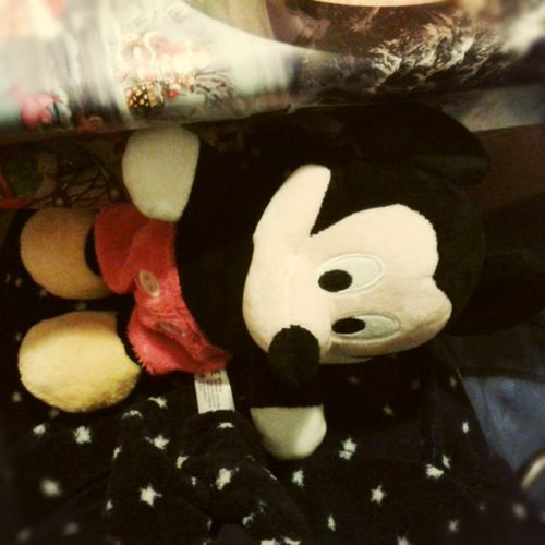 Mickey was the sneaky toy under.the table tonight. :D Life Sneaky Toy Under The Table