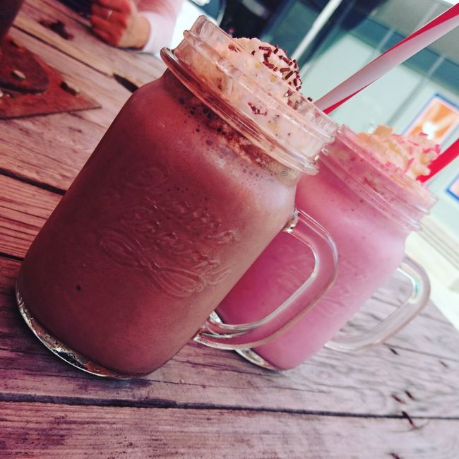 Time for a milkshake Milkshake Chocolate Milkshake Strawberry Milkshake