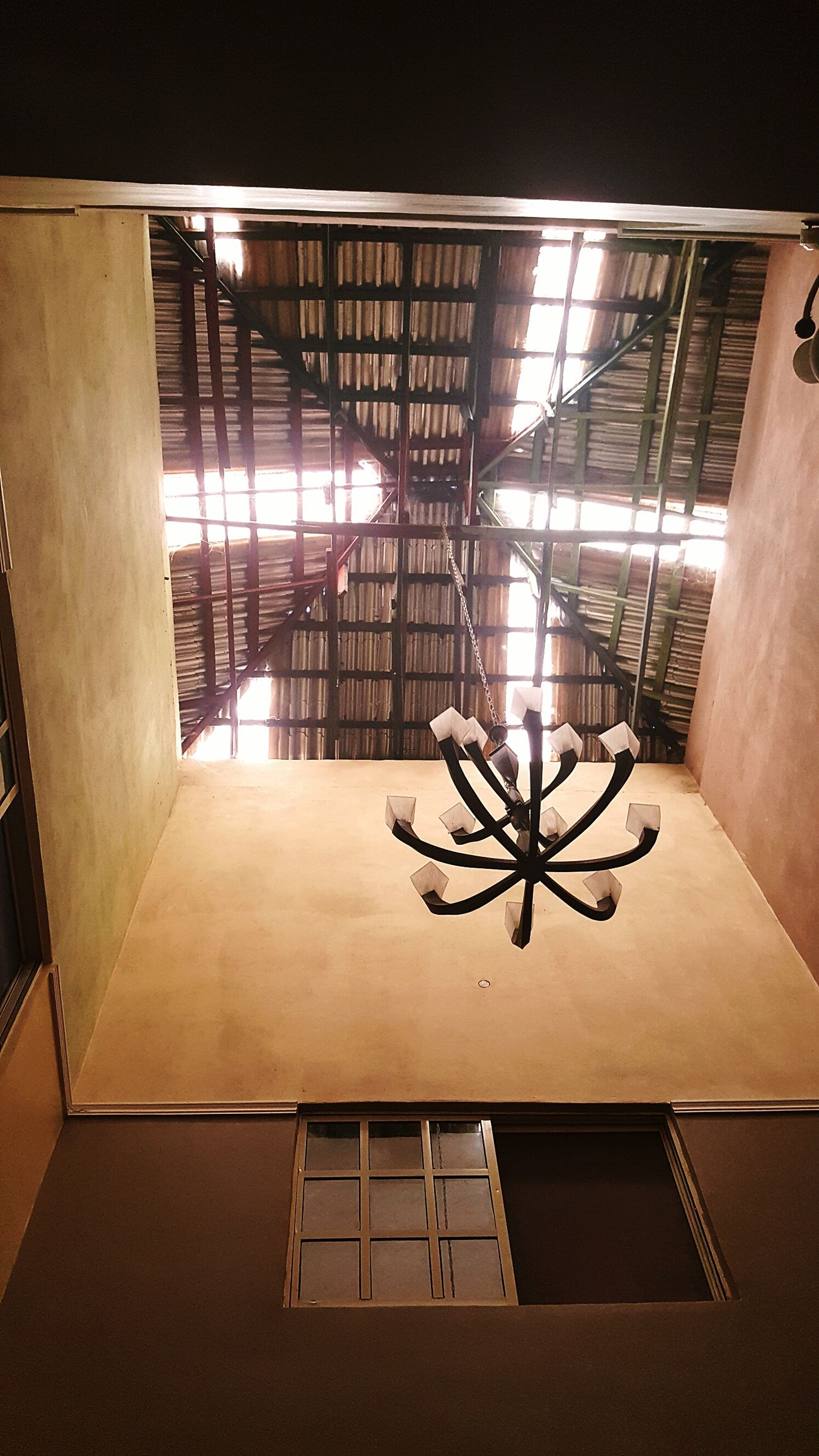 Village Skylights Indoors  No People Day AMPt - My Perspective Nigeria Cieling Lookingup Interior Design Built Structure Architecture Interior Views Enjoying The View