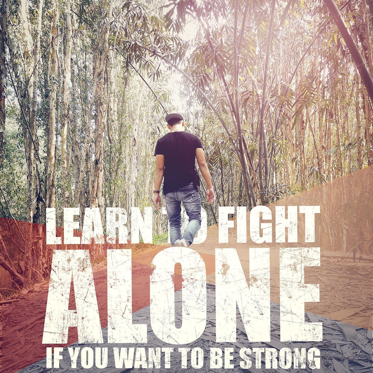 Alone Time Stronger! Quotes Viet Nam Vintage Photo Angiang Travelling Taking Photos