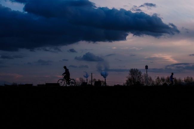 Bank Chimney Cloud Cloud - Sky On The Way Home Silhouette Sky Sunset_collection