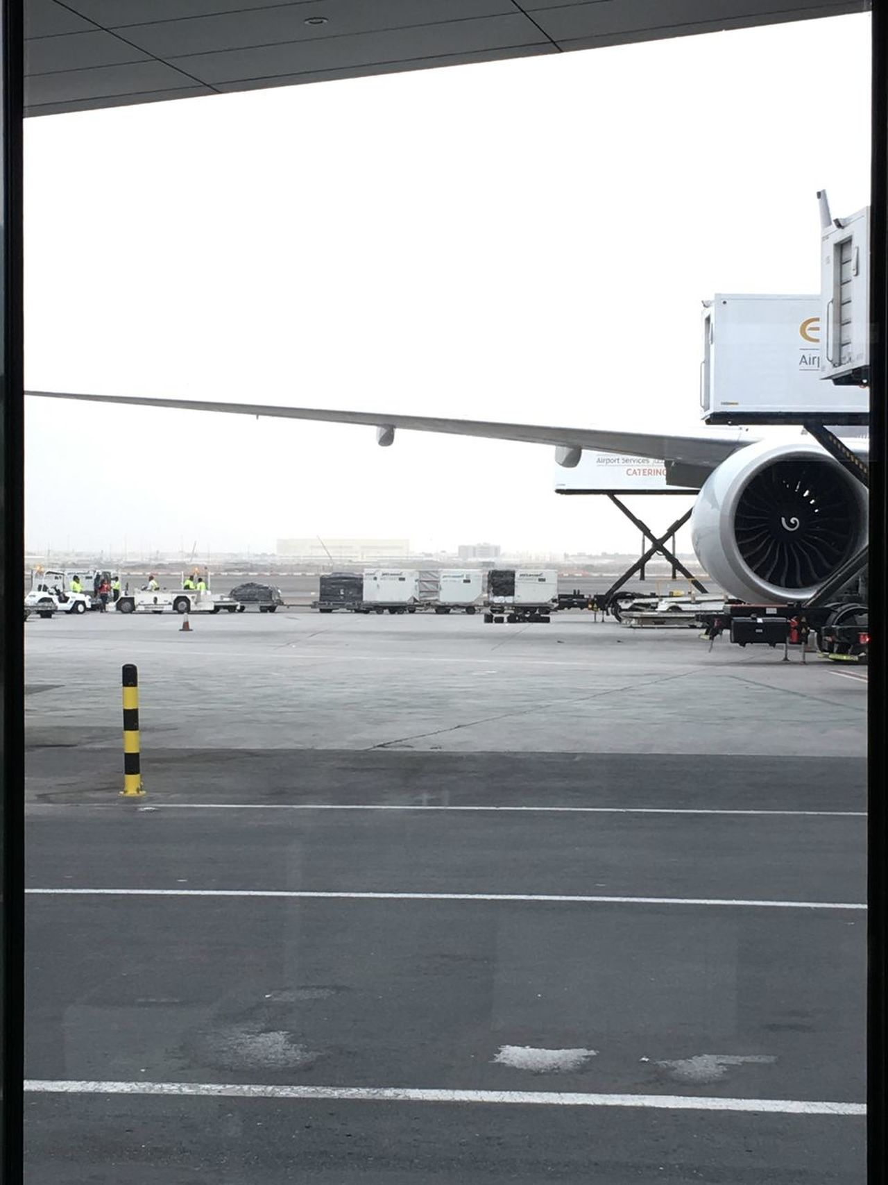 Aerospace Industry Air Vehicle Airplane Airport Airport Runway Day Mode Of Transport No People Outdoors Passenger Boarding Bridge Transportation Travel