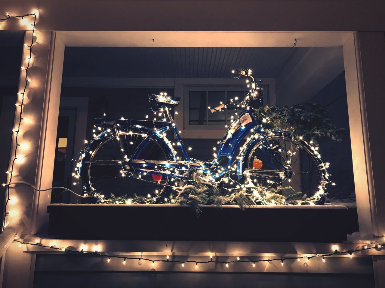 illuminated, night, no people, indoors, christmas decoration, christmas, christmas lights, architecture, close-up
