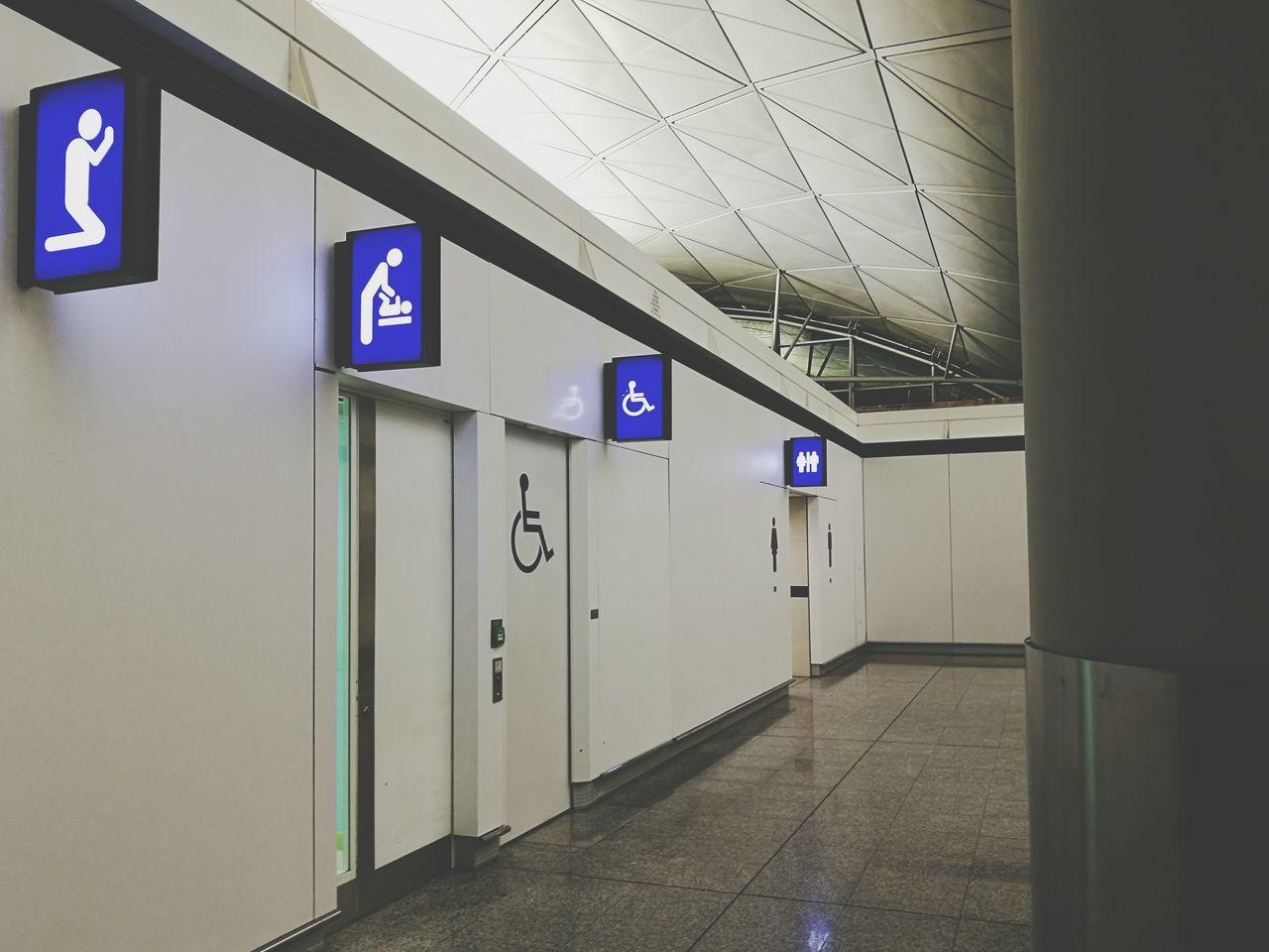 Door Exit Sign Indoors  Locker Room No People Lock Prey Room Toilet Indoors  Architecture