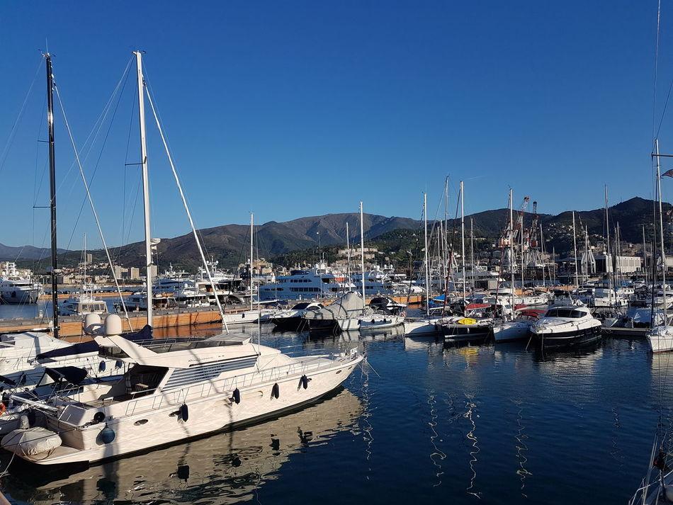 Water Harbor Sea Genoa, Italy, Europe, Liguria Genova Cityscape Italy❤️