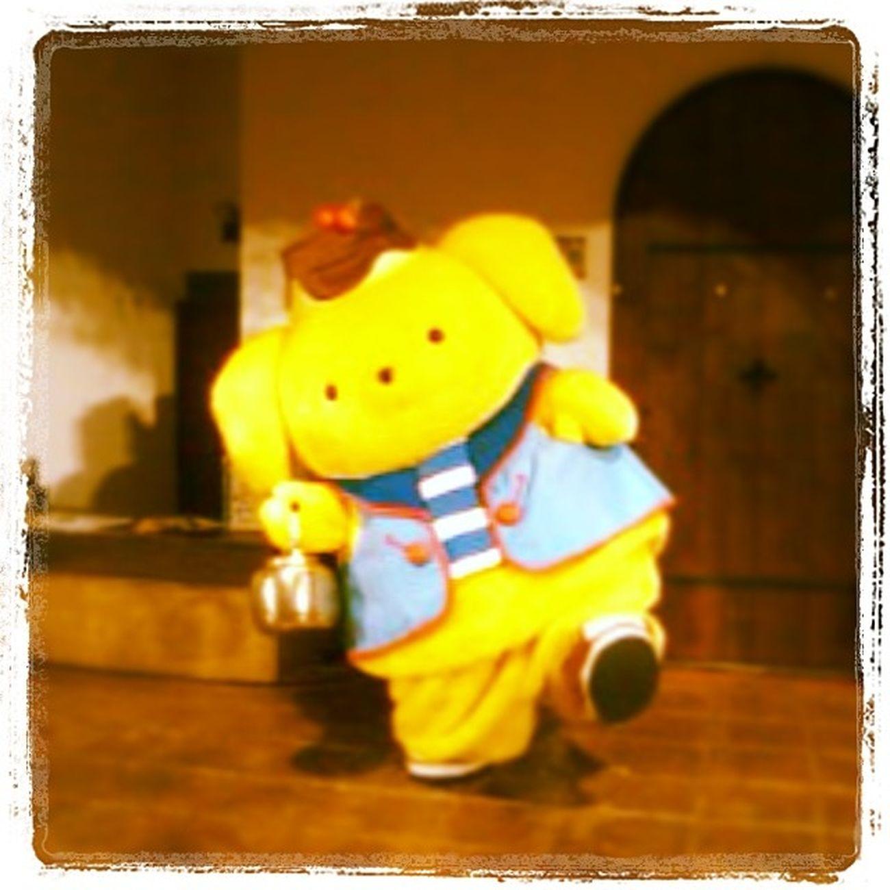 プリンお誕生日おめでとう?きょうは晴れかな〜☀? HappyBirthday Pompompurin ポムポムプリン Sanrio サンリオ