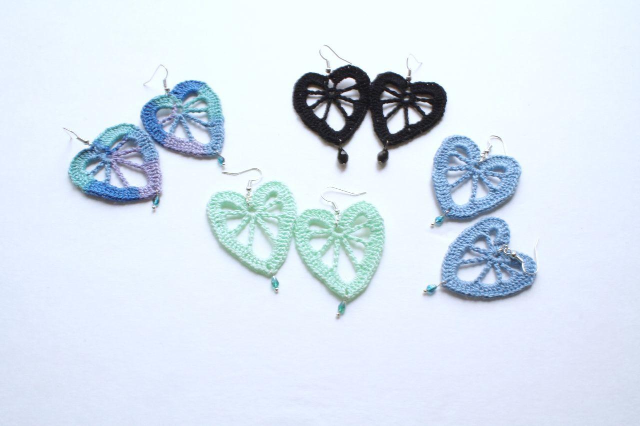 Creativity No People Studio Shot Art And Craft White Background Earring  Heart Heart Shape Leaf
