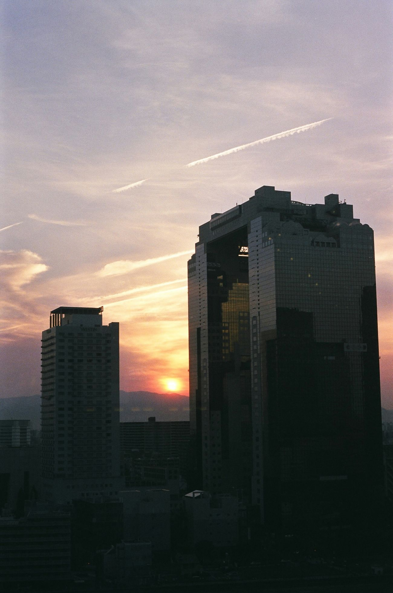Japan OSAKA Sunset Sunrise Orenge Sky 大阪 Buildings & Sky Building Sky ルクアイーレの屋上から