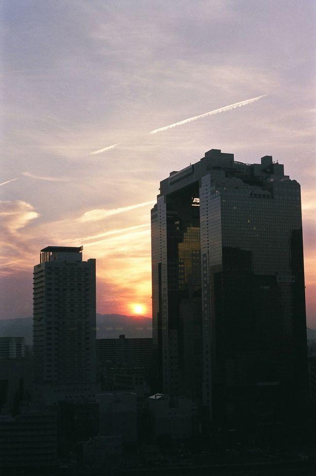 Japan OSAKA Sunset Sunrise Orenge Sky 大阪 Buildings & Sky Building Sky ルクアイーレの屋上から