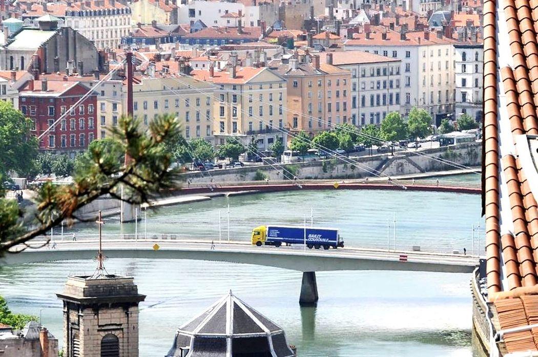 Croixrousse Lkw Truck Eyelyon Brücke Lyon Saone