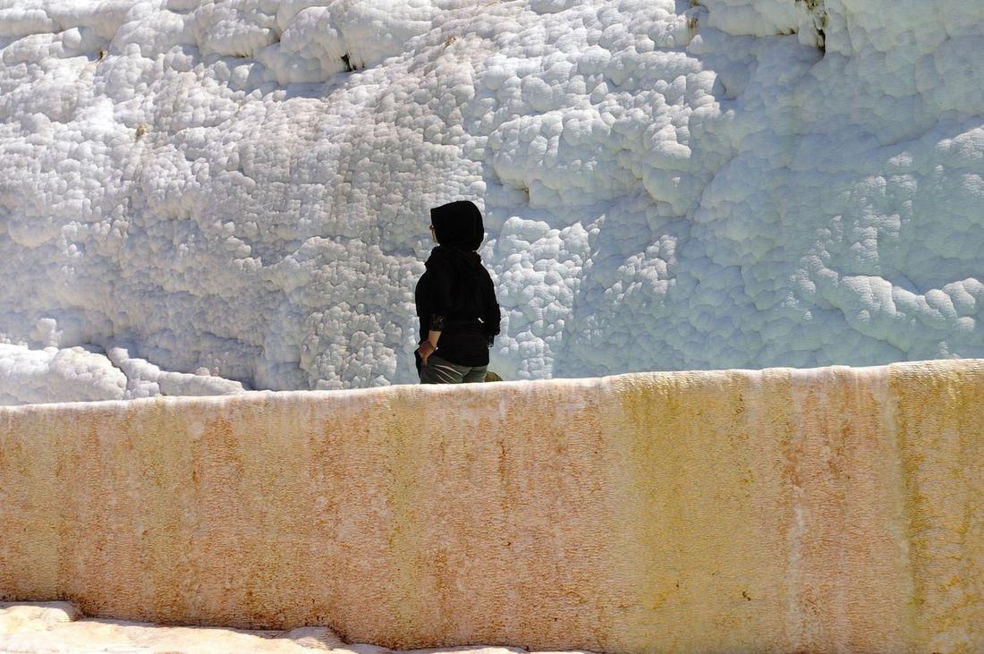 Arabic Arabic Style Black Dress Calcium Casual Clothing Contrast White White Black Woman