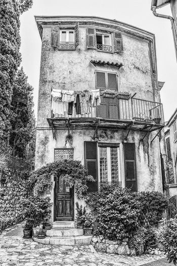 My Sweet Home!! #blackandwhite #clothes #small House #Sweetdreams #tree #Windows Architecture Building Exterior Built Structure Day No People Outdoors Sculpture Sky