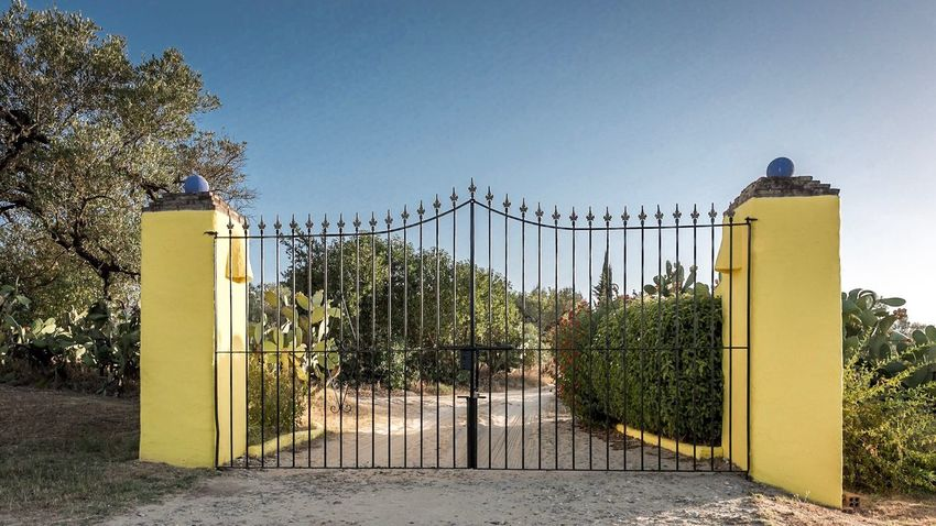 Gate Tree Outdoors Day Clear Sky No People Architecture Built Structure Growth Nature Sky