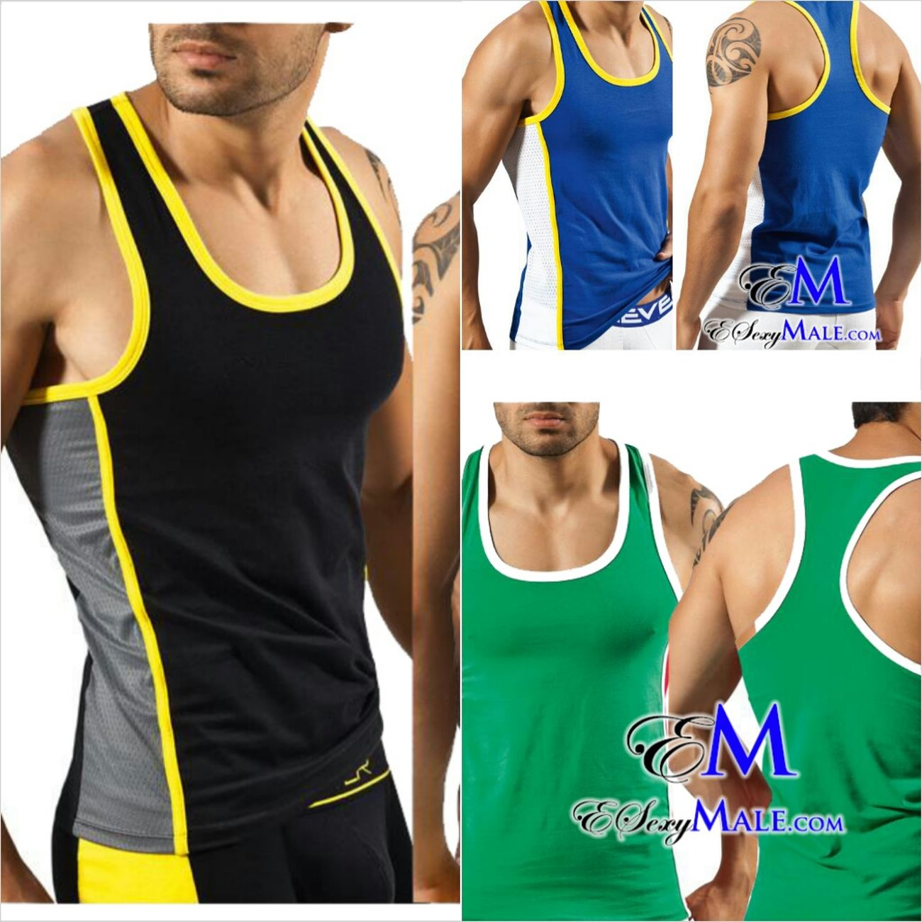 sports tanks 7017 Esexymale We Stay Ready Step Yah Game Up