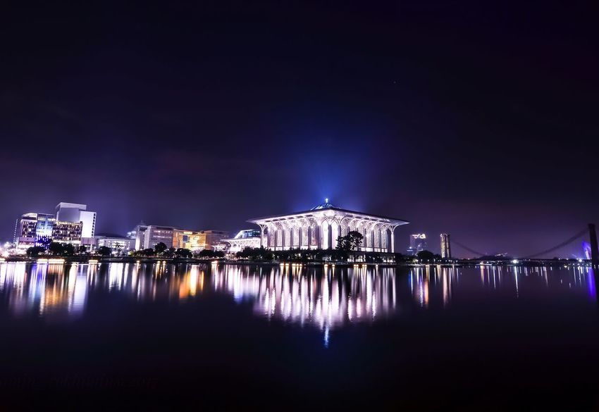 putrajaya malaysia Night Built Structure Architecture Water Reflection No People Travel Destinations Welerypothography Potographykendal Yogyakarta Photography Nighscape Kotawelerikendal Nature