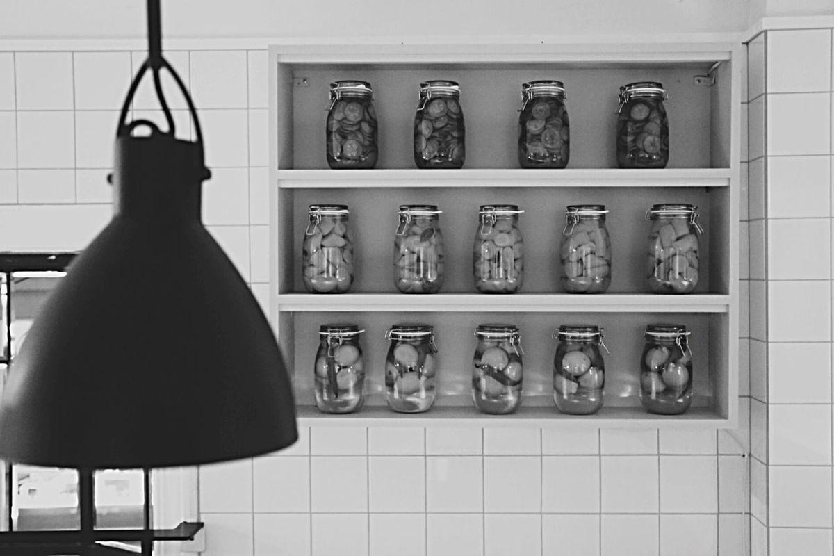 Preserved Preservative Cans Interior Design Interiordesign Blackandwhite Photography Kitchen Utensils Food Industrial Interior
