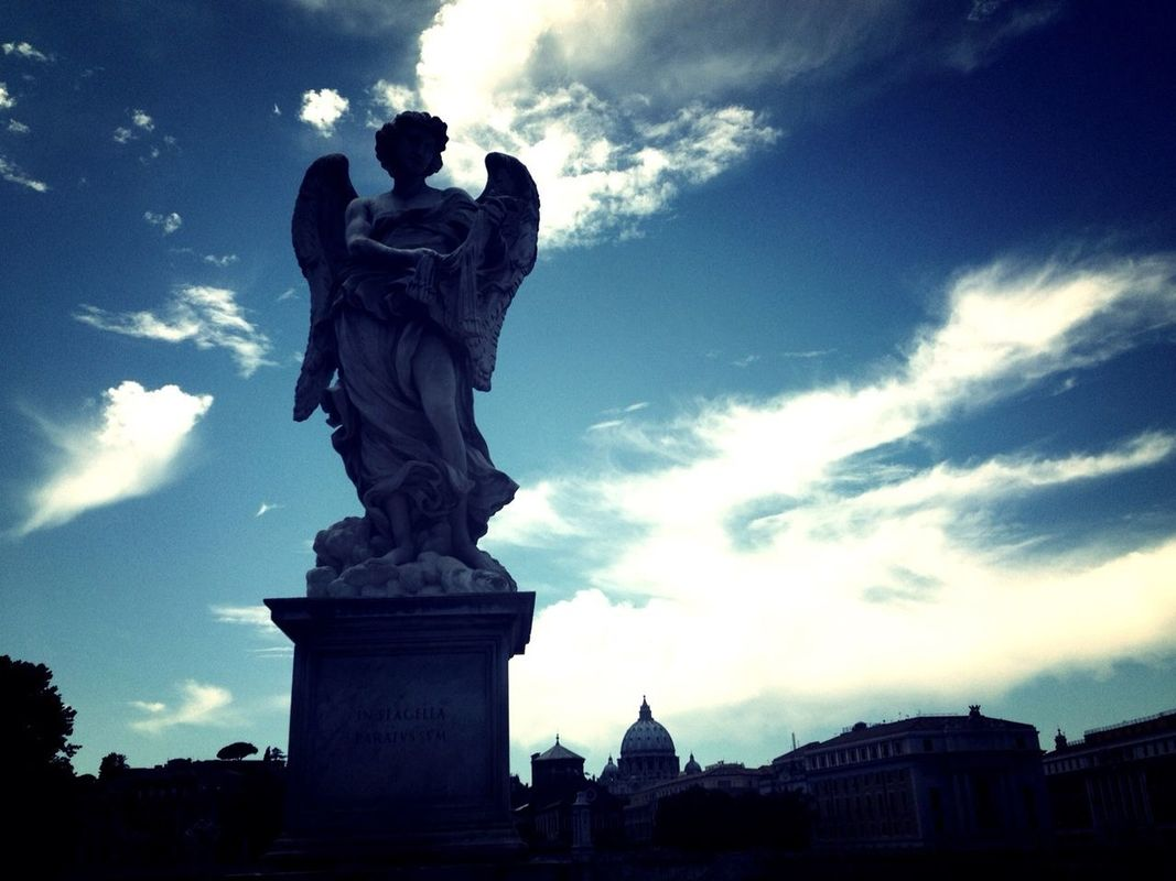 Silhouette of an angel inside Vatican City, Italy. Edited with the Wood Camera app for iPhone. woodcamera edited with the Wood Camera app by J_business