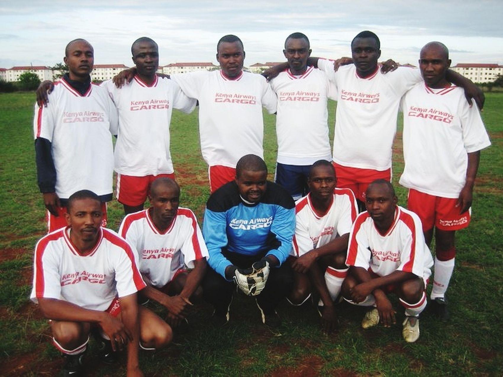 My Kenya airways coo department football team.