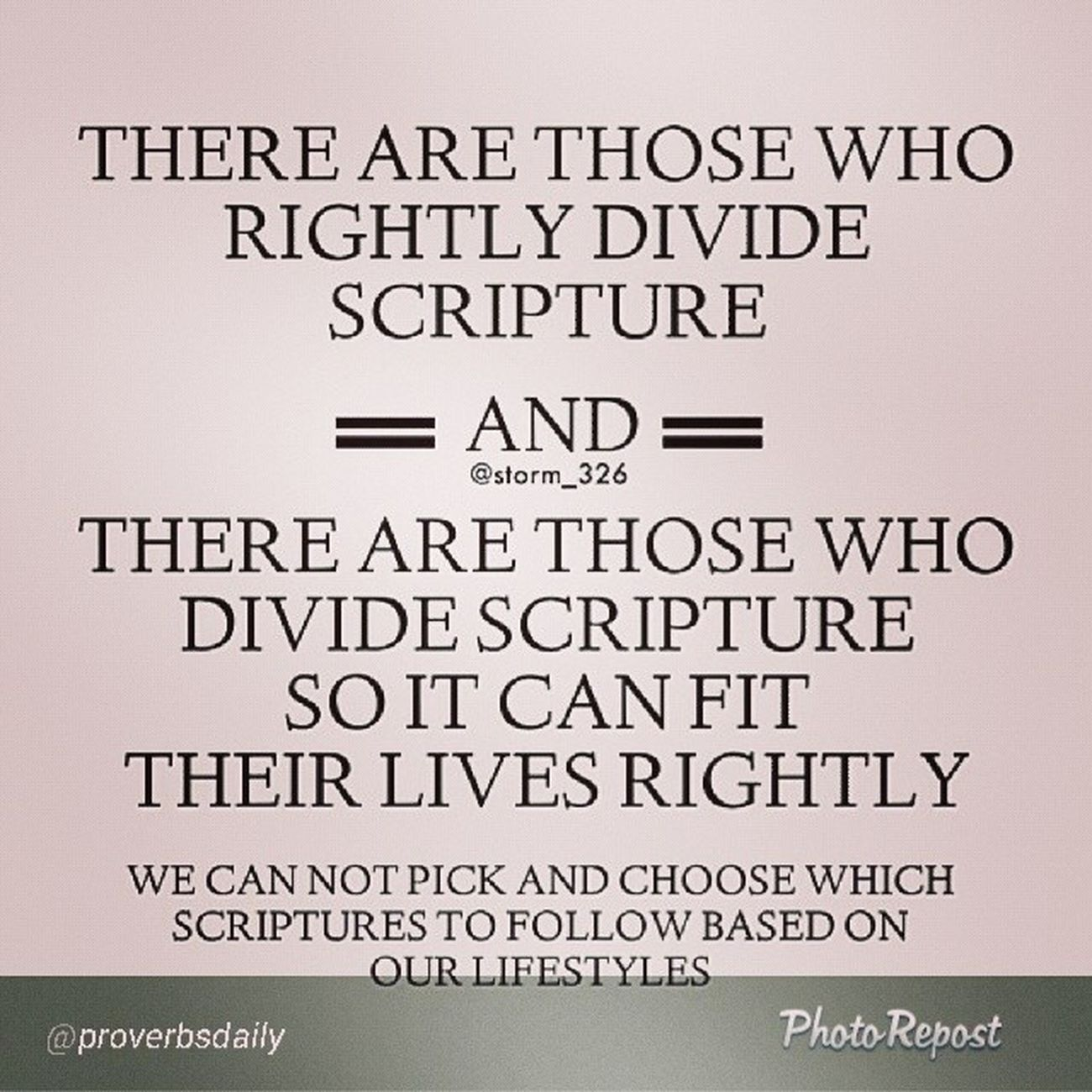 "Strong Words to consider today. By @proverbsdaily ""Isn't this most ""Christians"" you know? It seems to be common place. Do you believe the whole Bible or just the parts you like? It's time for all of us to stand or get off. (Awesome post by @storm_326 go follow her) Proverbsdaily Bible "" via @PhotoRepost_app"