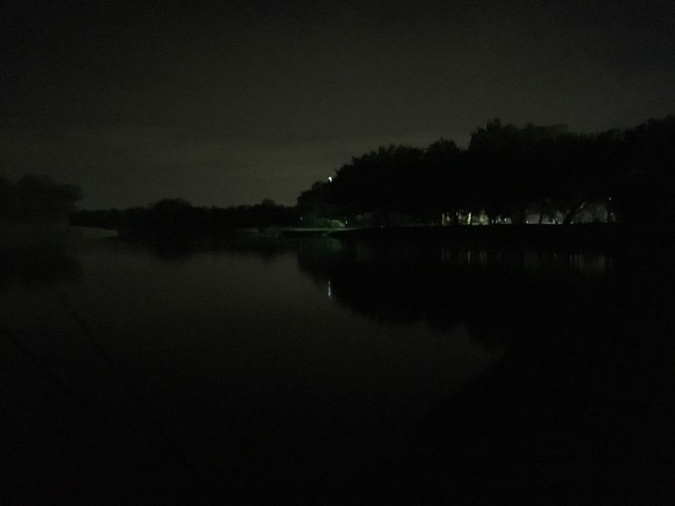 Nighttime lake reflection. Trees Lake Reflection Night Tree Silhouette Dark Fishing Texas IPhoneography Mobilephotography Nofilter Iphonephotography Texassky Rowlett Nofilterneeded Fishinginthedark
