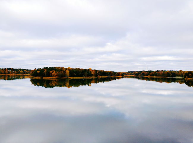 Autumn Lake with Reflection. Fall Fall Colors Autumn Colors Mirror