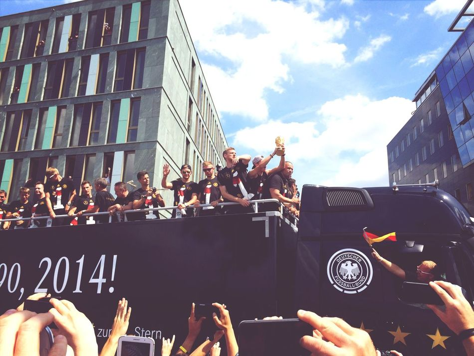 World Champions on Parade World Cup 2014 Germany Diemannschaft FIFA World Cup Brasil