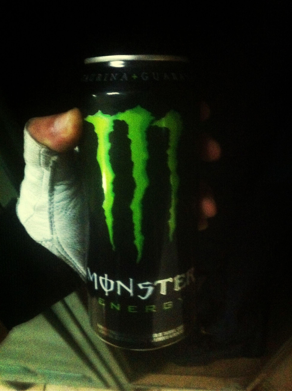 Despues del gym su monster energy
