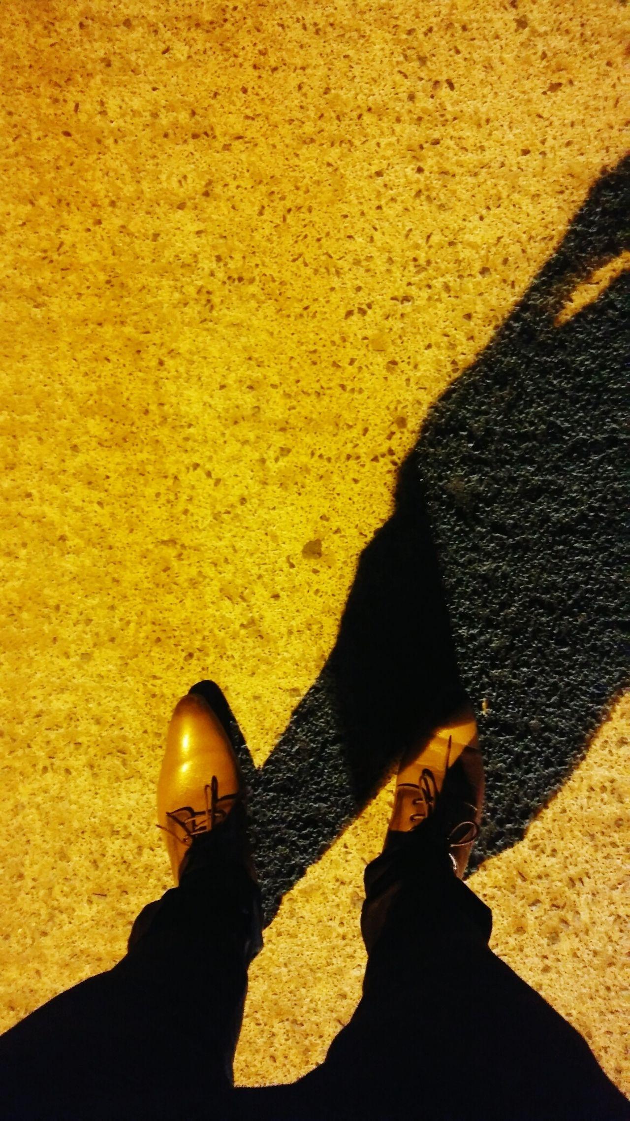 Shadows & Lights Roadscenes Shoes Selfphotography Nightphotography Night Lights Shoes ♥ Shoeselfie Yellowlights EyEmNewHere