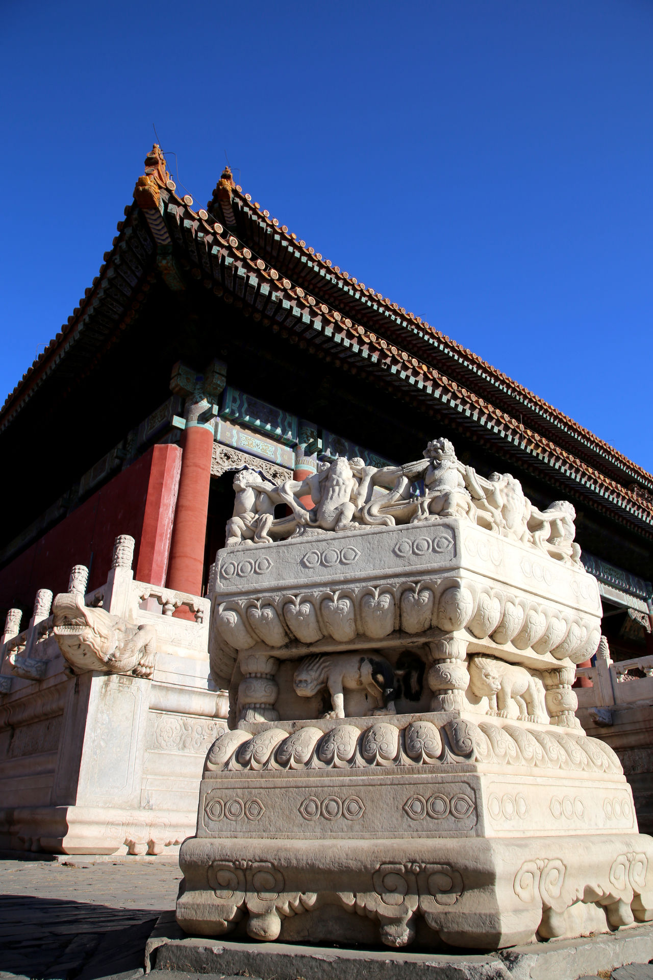 Architecture Beauty Blue City Clear Sky Cultures Day Gold Gold Colored No People Outdoors Place Of Worship Religion Royalty Sky Travel Destinations Vertical Pagode China Beijing Pagoda Building Backgrounds Pagoda Temple Forbidden City, Beijing, China Forbidden City Pagoda